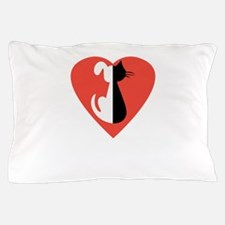 i love dogs and cats Pillow Case