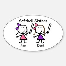 Softball - Sisters Oval Decal
