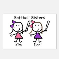 Softball - Sisters Postcards (Package of 8)