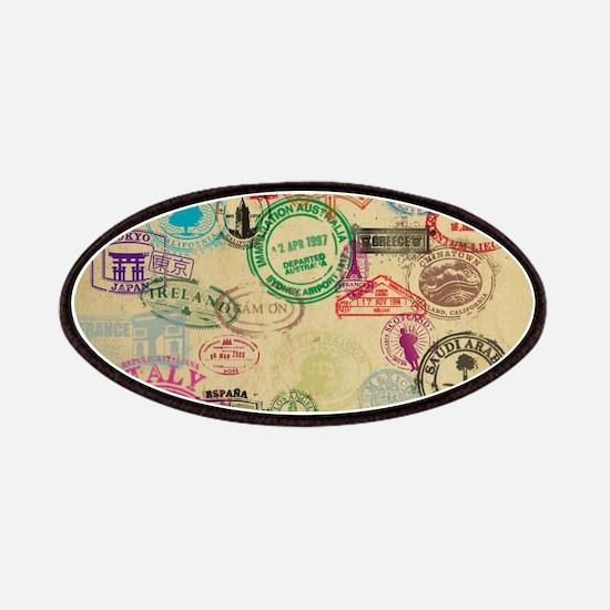 Vintage Passport Stamps Patch