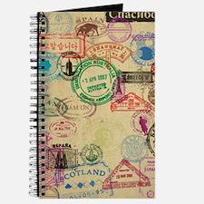 Vintage Passport Stamps Journal