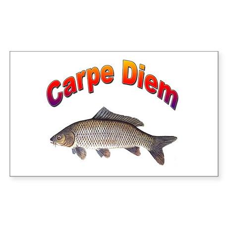 Carpe Diem Seize the Day Rectangle Sticker