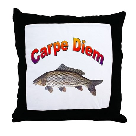Carpe Diem Seize the Day Throw Pillow
