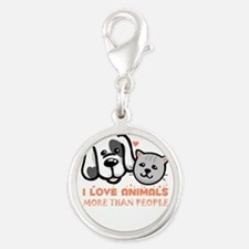 i love animals more than people Charms