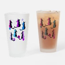 Unique Modern cat art Drinking Glass
