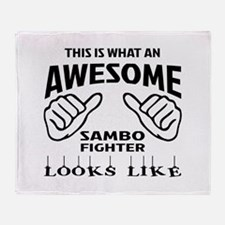 This is what an awesome Sambo fighte Throw Blanket