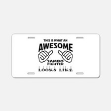 This is what an awesome Sam Aluminum License Plate