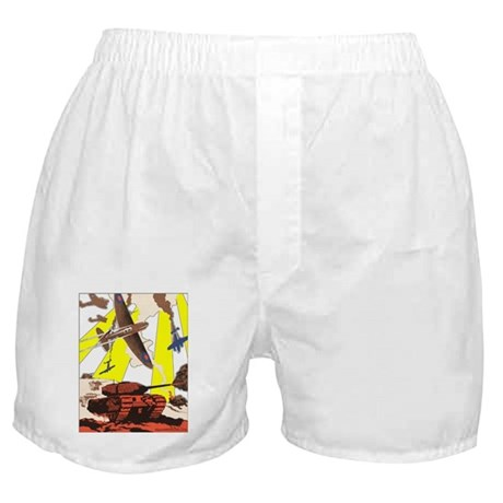 """Tanks & Planes"" Boxer Shorts"