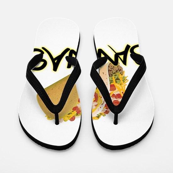 taco bananas.png Flip Flops