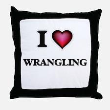 I love Wrangling Throw Pillow