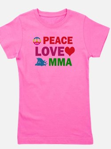 Peace Love MMA Designs T-Shirt