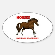 HORSES Oval Decal