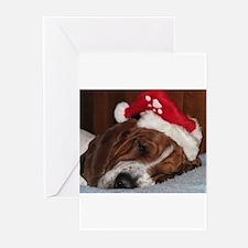 Christmas Basset Greeting Cards