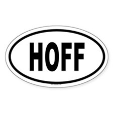 HOFF Oval Decal