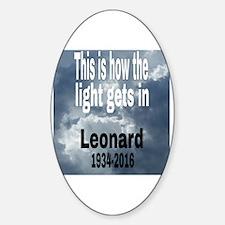 Cute Leonard Sticker (Oval)