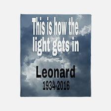 Cute Leonard Throw Blanket