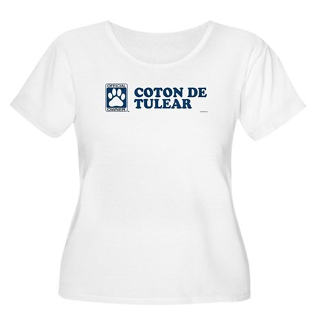COTON DE TULEAR Womens Plus-Size Scoop Neck T