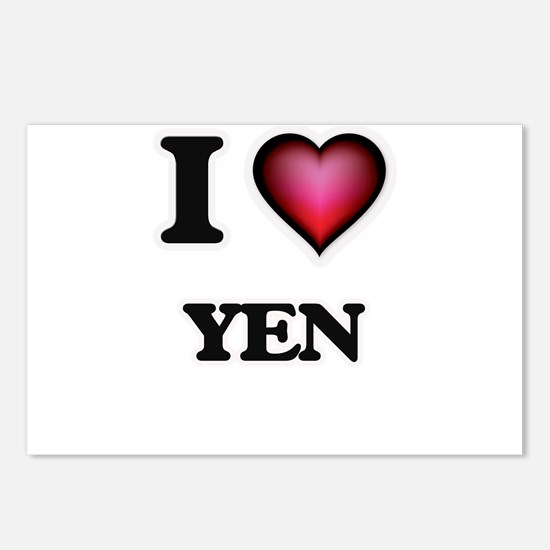 I love Yen Postcards (Package of 8)