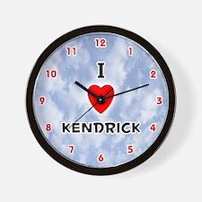 I Love Kendrick (Red/Blk) Valentine Wall Clock