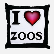 I love Zoos Throw Pillow