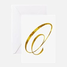 Monogram O Gold Faux Foil Monograms Greeting Cards