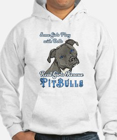 Real Girls Rescue Pitbulls Fitted Hoodie Sweatshir