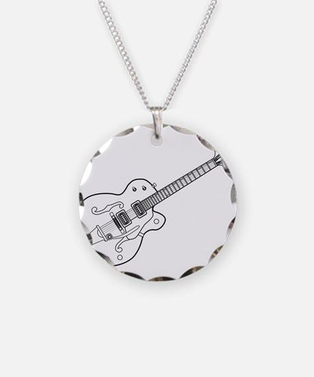 Country and Western Guitar O Necklace