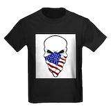 American skull Kids T-shirts (Dark)