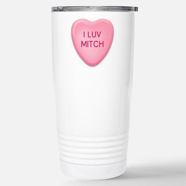 Cute Custom heart Travel Mug
