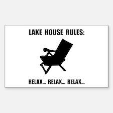 Lake House Rule Decal