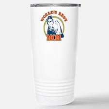 Rosie Riveter Best Mom Travel Mug