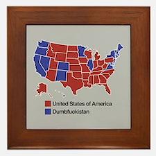 Map of Dumbfuckistan Framed Tile