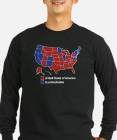 Map of Dumbfuckistan Long Sleeve T-Shirt
