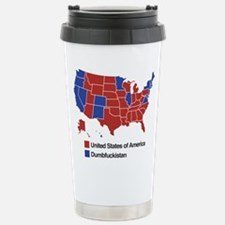 Map of Dumbfuckistan Travel Mug