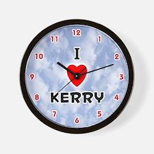 I Love Kerry (Red/Blk) Valentine Wall Clock