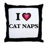 I love naps Cotton Pillows