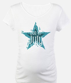 Blue Star Due In July Shirt