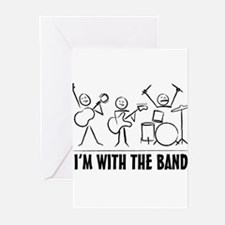 stickman band Greeting Cards