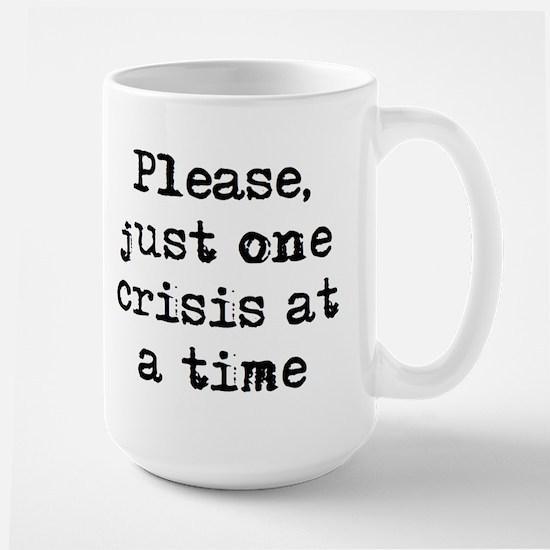 one crisis Mugs