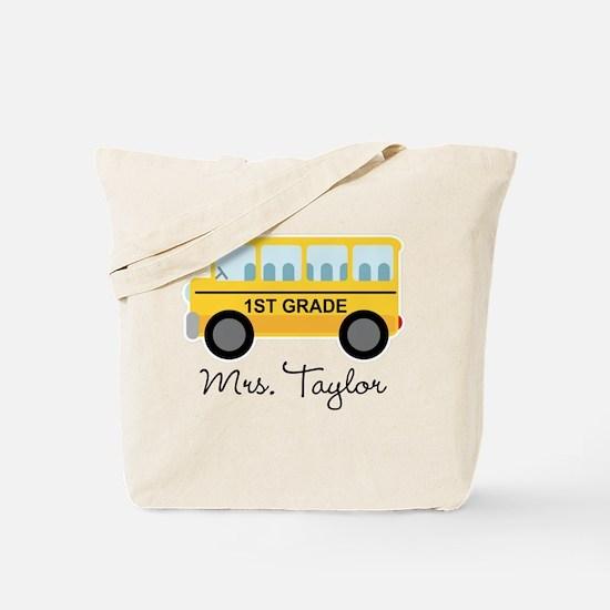 Personalized 1st Grade Teacher Tote Bag