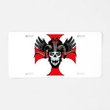 Ram skull 3 tw Aluminum License Plate