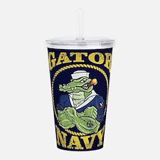 The Gator Navy Acrylic Double-wall Tumbler