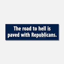 Republican Road To Hell Car Magnet 10 X 3