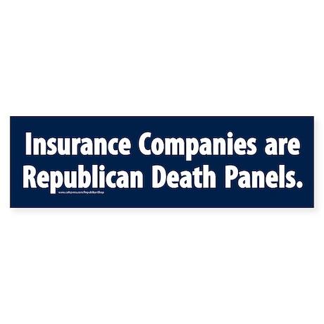 Republican Death Panels Bumper Sticker