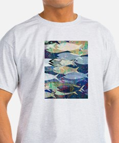 Fish Design Blue T-Shirt