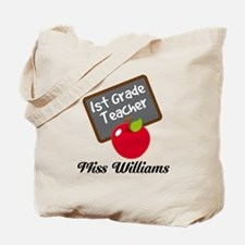 1st Grade Teacher Personalized Tote Bag