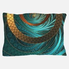 Beautiful Corded Leather Turquoise Fra Pillow Case