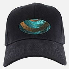 Beautiful Corded Leather Turquoise Fract Baseball Hat