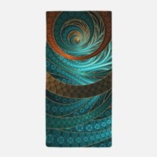 Beautiful Corded Leather Turquoise Fra Beach Towel