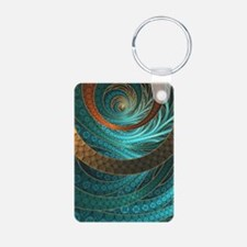 Beautiful Corded Leather Turquoise Fract Keychains
